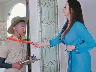 Mind Blowing MILF With Huge Boobs Ariella Ferrera Fucks Young Black Guy
